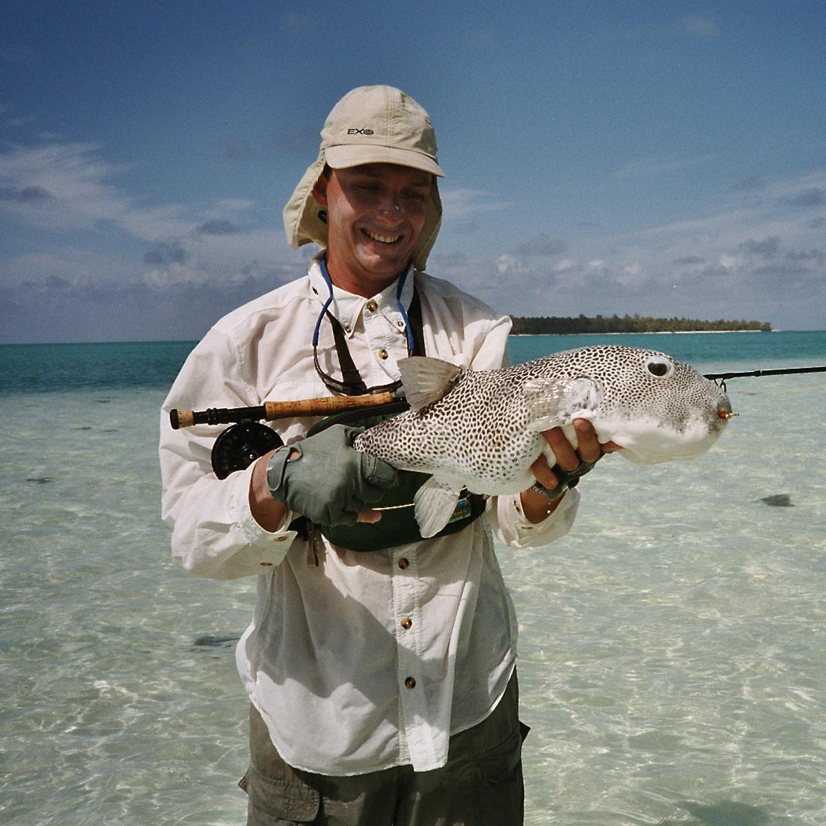 Salzwasser-Fliegenfischen in den Tropen