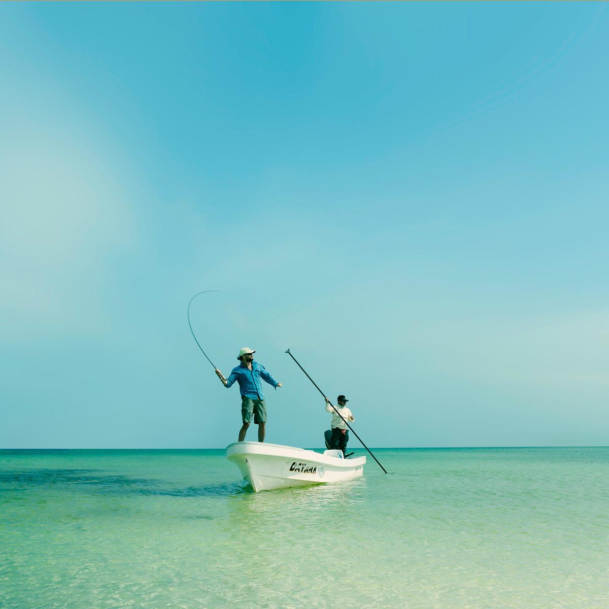 Fliegenfischen in der Karibik mit Costa Polbrillen