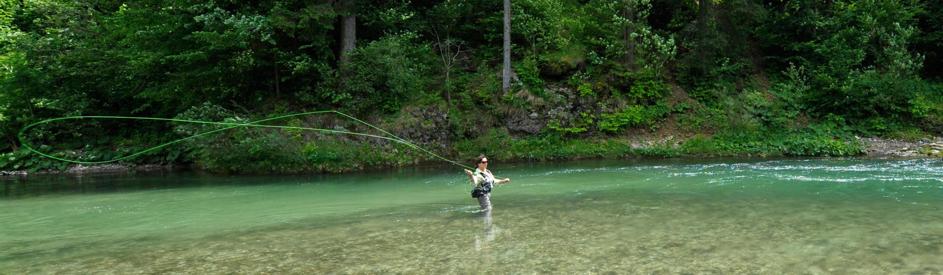 Welches Gerät zum Fliegenfischen in Slowenien