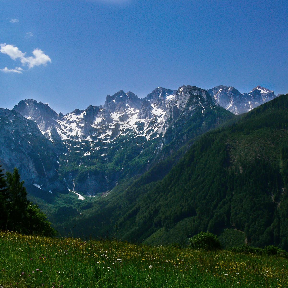 Traumhafte Landschaft in Slowenien