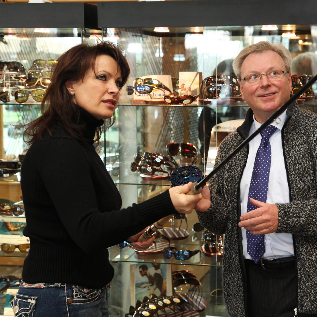 Mirjana Pavlic mit Zweihandrute von Burkheimer