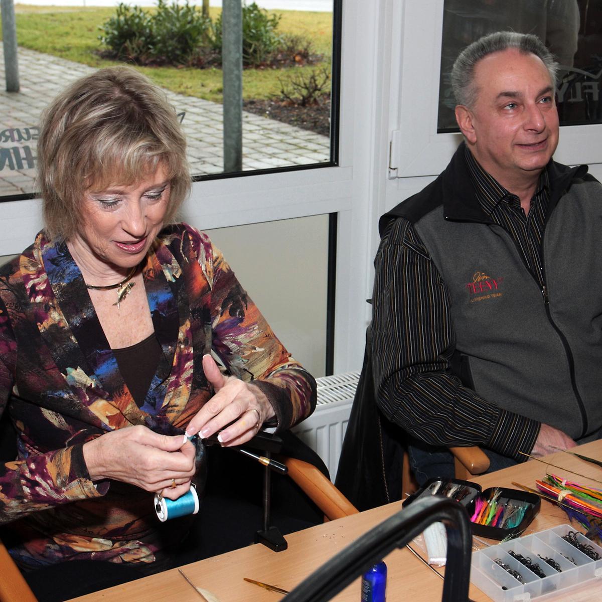 Fliegenfischer Donna und Jim Teeny
