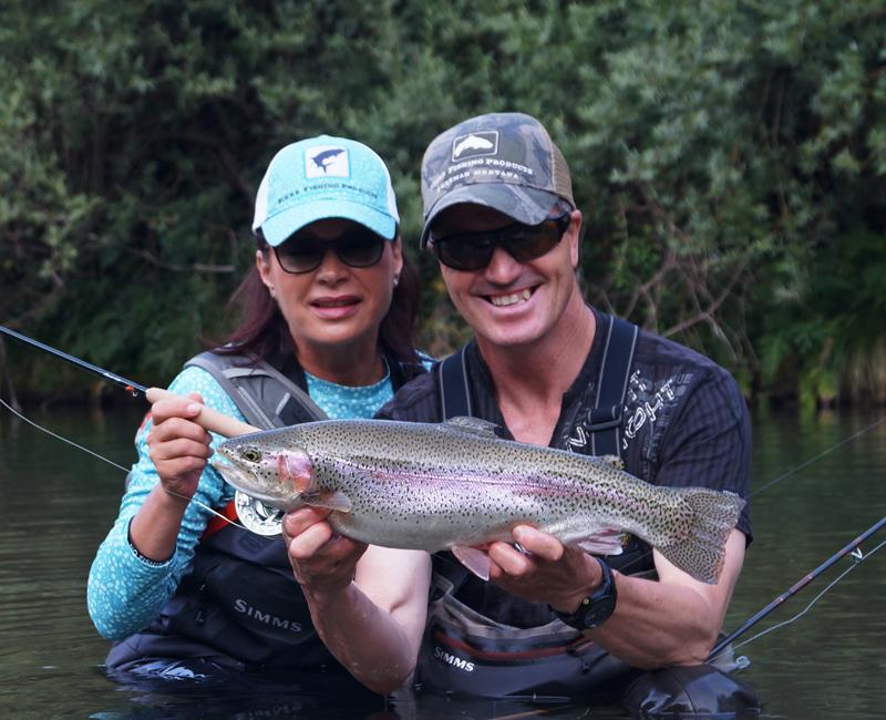 Mirjana Pavlic und Ronny Anden beim Fliegenfischen