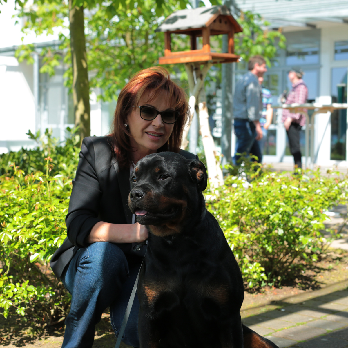 Mirjana Pavlic und Hund Agni
