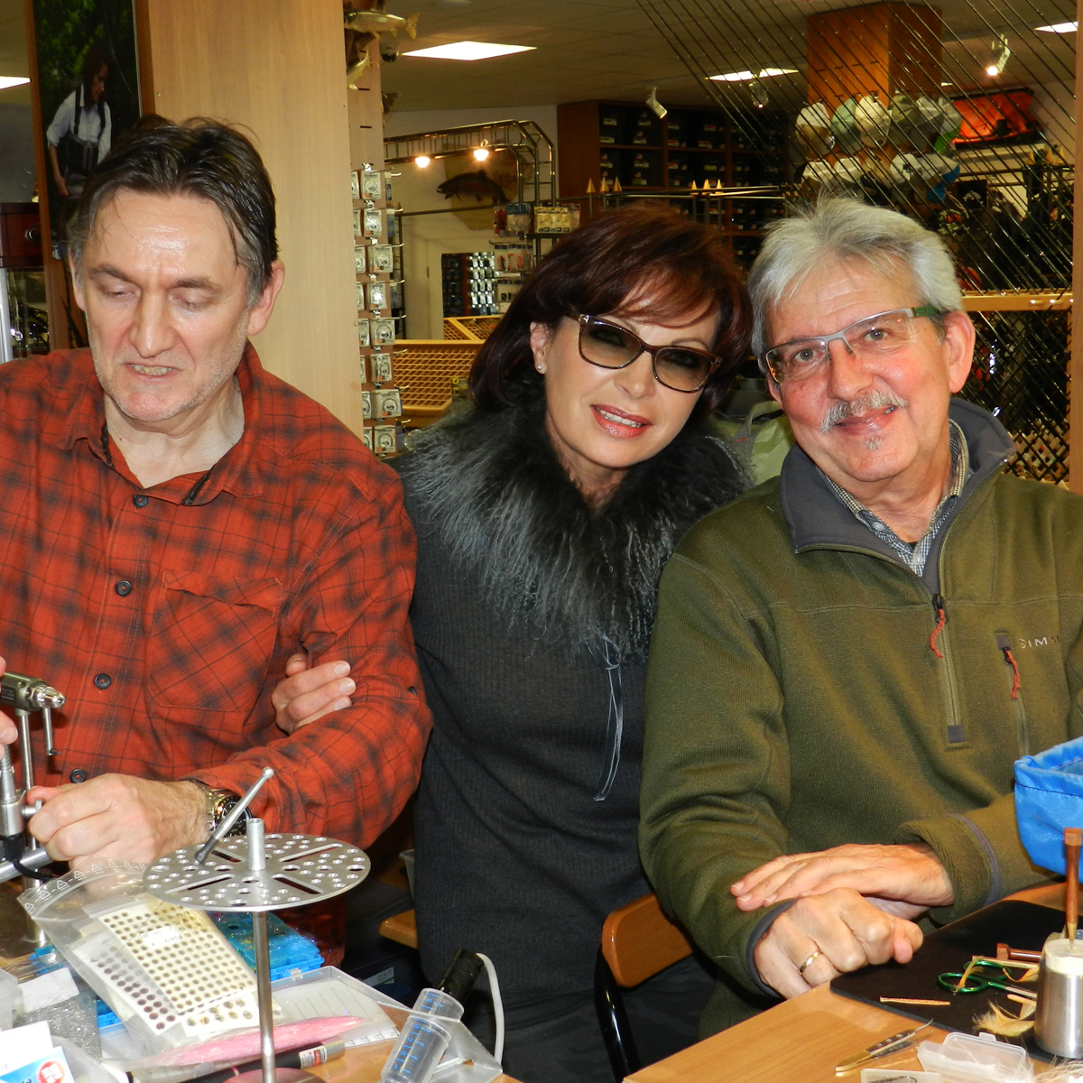 Peter Joest, Mirjana Pavlic und Günni Sareyka