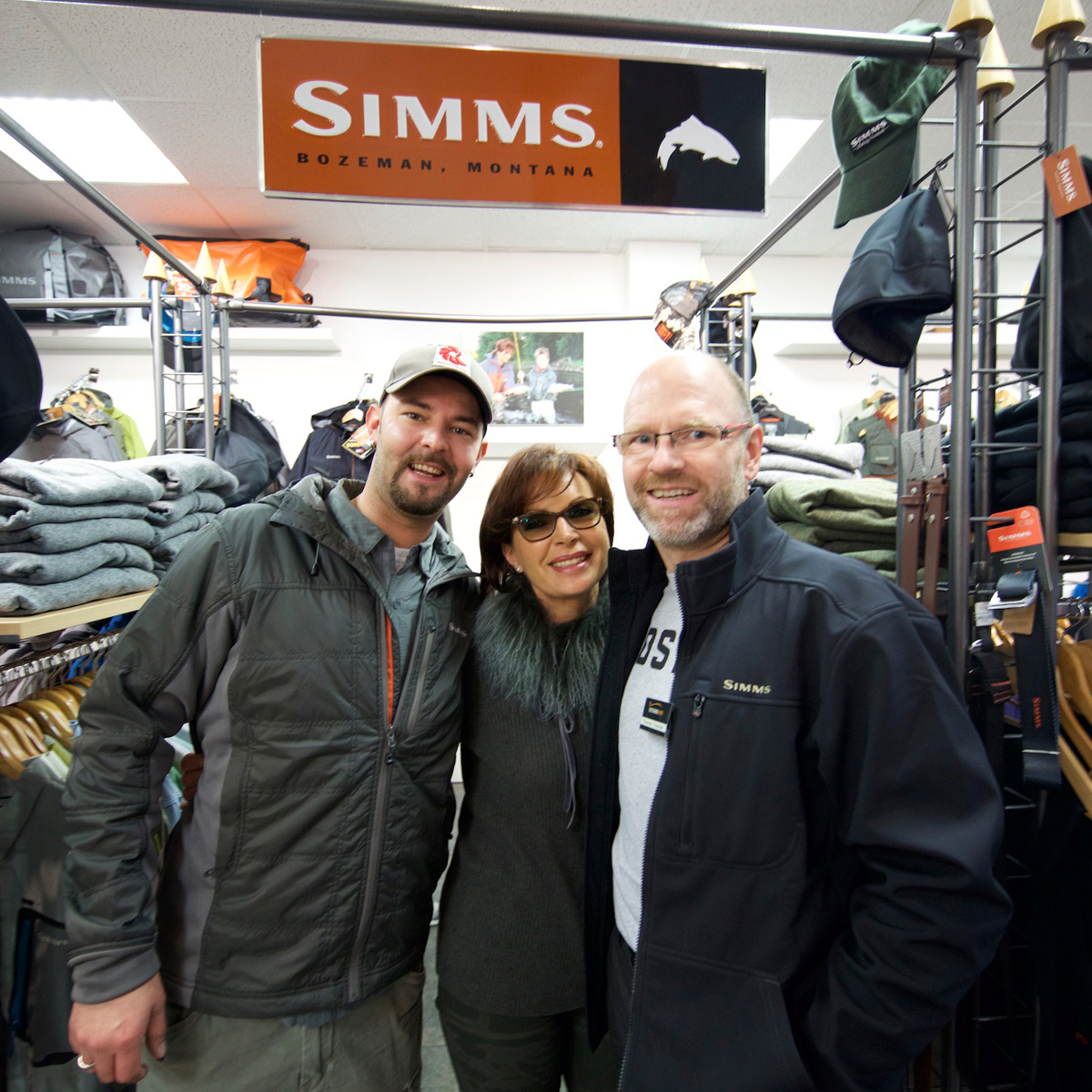 Thorsten, Mirjana und Thomas bei Flyfishing Europe