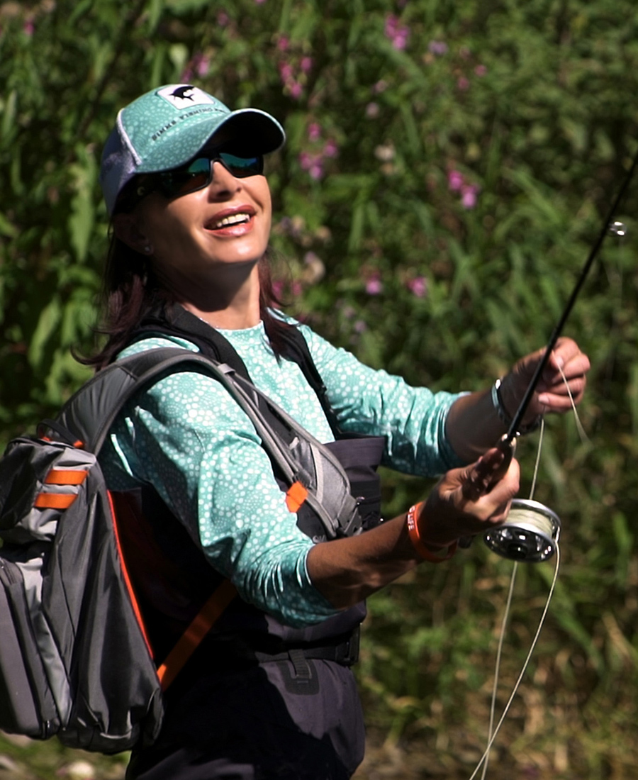 Freude am Fliegenfischen bei Mirjana Pavlic