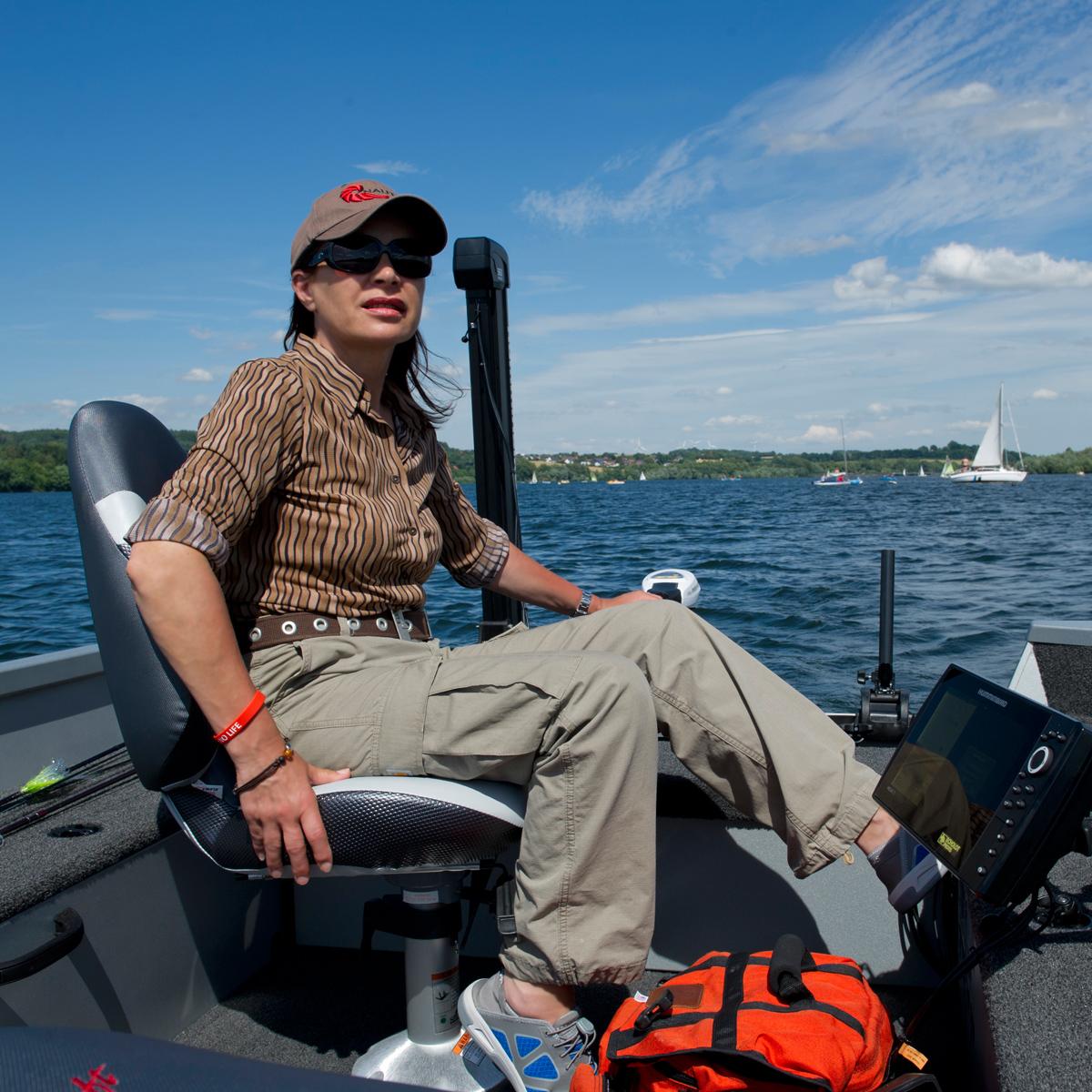Mirjana Pavlic beim Guiding auf dem Möhnesee