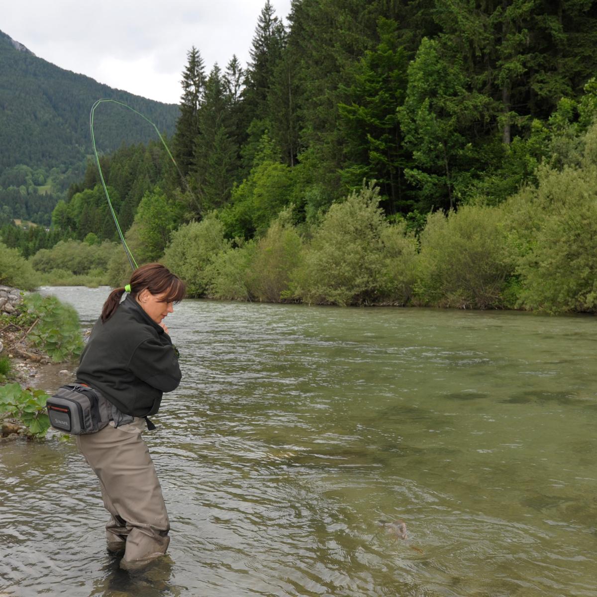 Fliegenfischen auf Forelle in Slowenien