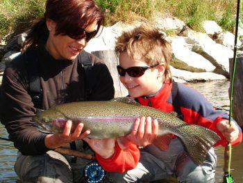 Mirjana und Thorben Pavlic beim Fliegenfischen