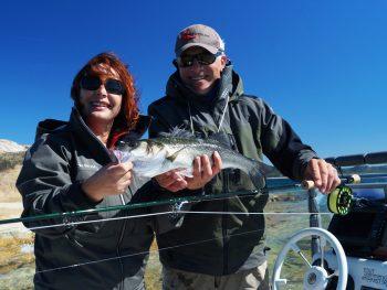 Mirjana Pavlic beim Fliegenfischen auf Wolfsbarsch
