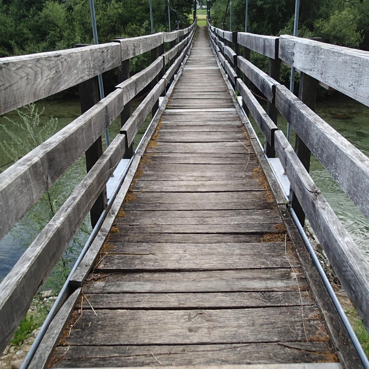 Brücke an der Savinja