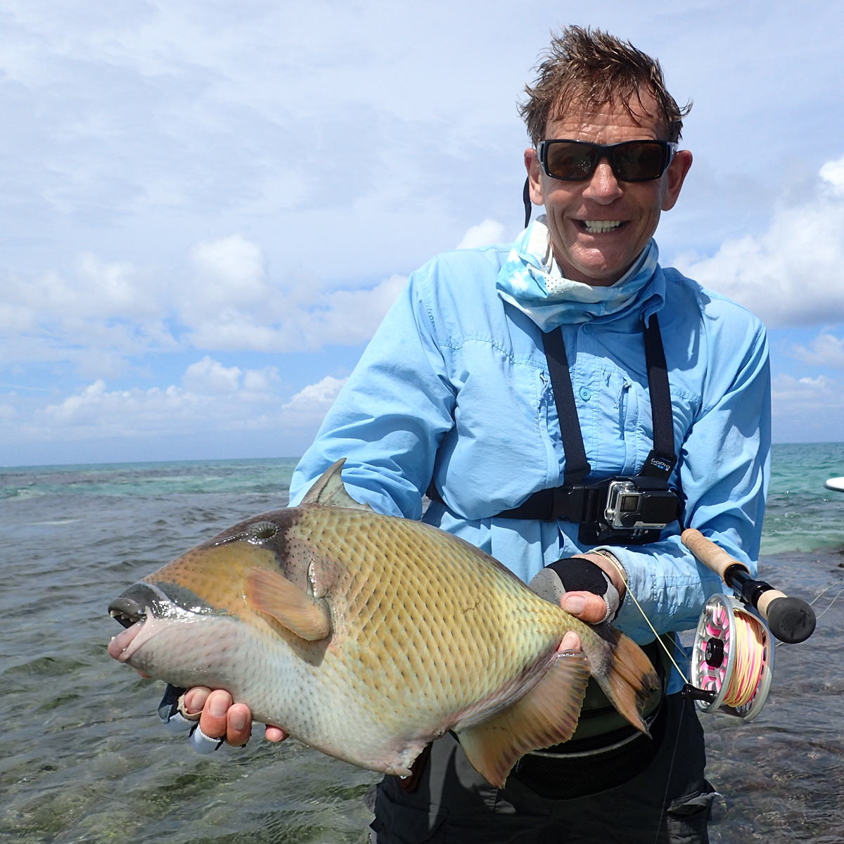 Roland Benck beim Fliegenfischen