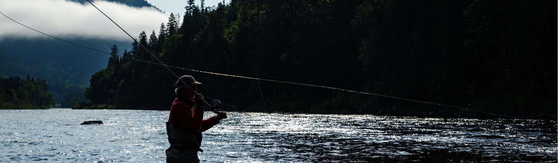 Fliegenfischerkurs mit Zweihandrute bei Henrik Mortensen