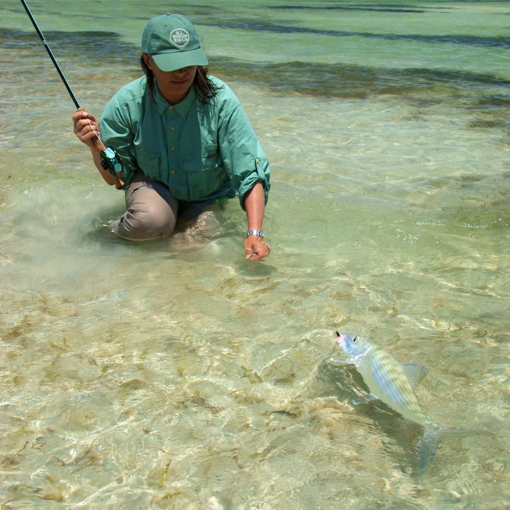 Fliegenfischen auf Bonefish auf Kuba
