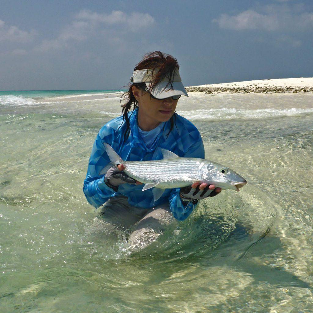 Fliegenfischen auf Bonefish auf den Seychellen