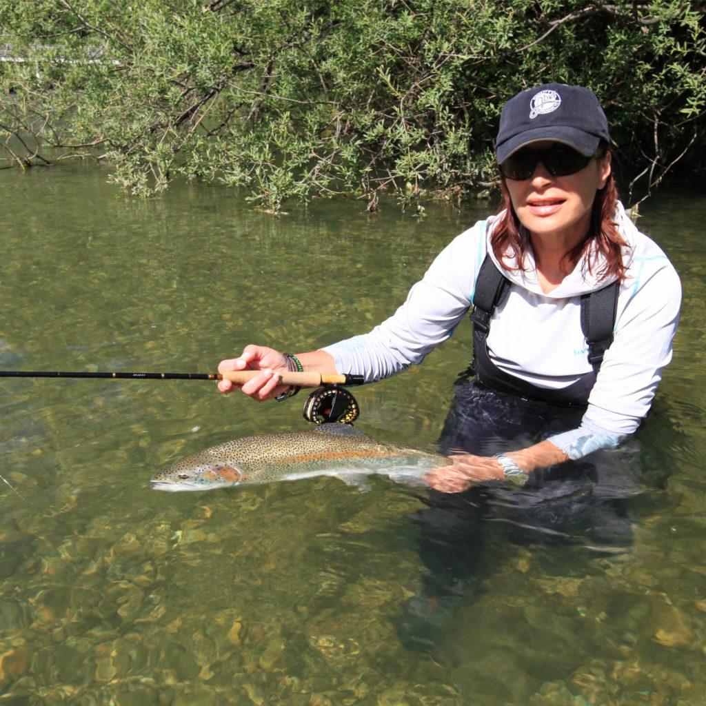 Fliegenfischen an der Savinja in Slowenien